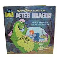Vintage 1977 Walt Disney See Hear Read Pete's Dragon Children's Book