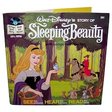 Vintage 1977 Walt Disney See Hear Read Sleeping Beauty Children's Book