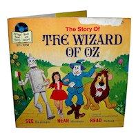 Vintage 1978 Walt Disney See Hear Read Wizard Of Oz Children's Book