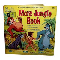 Vintage 1969 Walt Disney See Hear Read More Jungle Book Children's Book