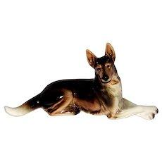 Vintage Cortendorf Western Germany Fine Porcelain German Shepherd Dog Figurine