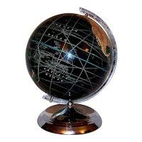 "Vintage 10"" Peerless Black Ocean Weber Costello World Globe"