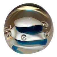 Vintage Glass Controlled Bubble Paperweight