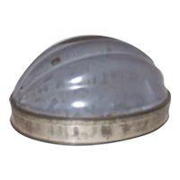 Vintage 1920's Mottled Gray Extra Agate Nickel-Steel-Ware Melon Jello Mold