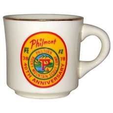 Vintage Boy Scout Camp Philmont 40th Anniversary Coffee Mug