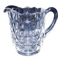 Vintage Fostoria American Clear Pint Milk Pitcher
