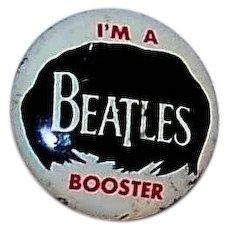 "Vintage Original  1964 ""I Am A Beatles Booster"" Back Pin"