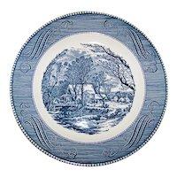 Vintage 1960's Royal China Currier &  Ives Pattern Dinner Plate Set