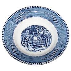 Vintage 1960's Royal China Currier & Ives Pattern Fruit/Dessert Bowl