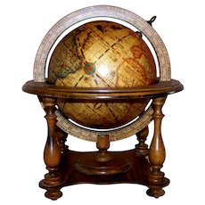 Vintage 1960's Italian Crafted Replica Old World Astrology Desk Globe By Olde Globe