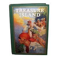 Vintage Classic Book 1924 Edition Of Robert Louis Stevenson Book Treasure Island