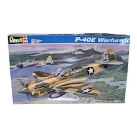 "Vintage NOS 1996 Revell P-40E Warhawk 1/32"" Airplane Model Kit"