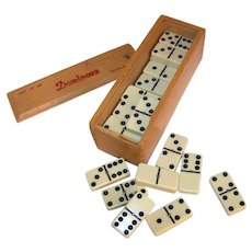 Vintage Cardinal Double Six Dominoes Set