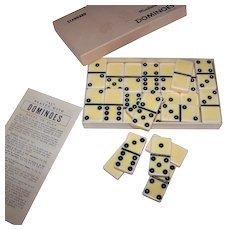 Vintage Puremco #616 Standard Dominoes Set