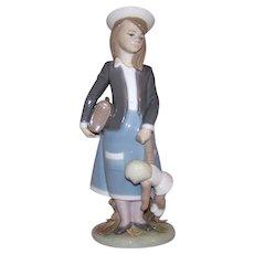 Vintage Lladro Daisa Autumn Seasons Porcelain Girl Figurine #5218