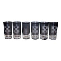 Vintage Purina Feeds Checkerboard Advertising Glass Set