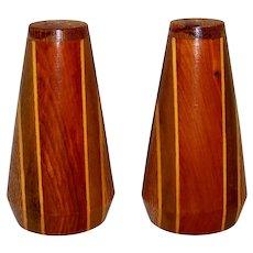 Vintage New Zealand Kaimanawa Native Wood Salt & Pepper Shakers