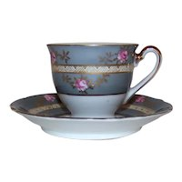 Vintage Occupied Japan UCAGCO Demitasse Tea Cup & Saucer Set