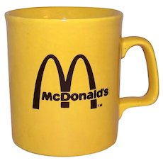 Vintage Canadian McDonald's Restaurant Ceramic Coffee Mug
