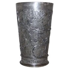 Antique German Pewter Drinking Cup