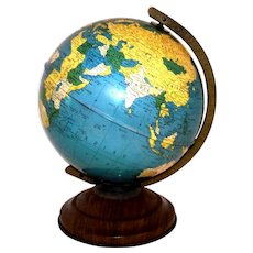 "Vintage 1946 Replogle 8"" Simplified World Globe"