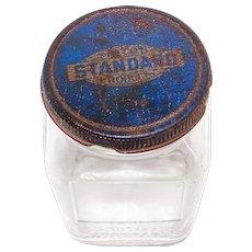 Vintage 1939 Standard Oil Service Station Glass Parts Jar
