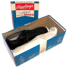Vintage1950's NOS Rawlings Fleetfoot Boys Leather Baseball Cleats