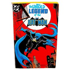 Vintage August 1982 First Printing DC Comics The Untold Legend of The Batman Book
