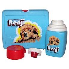 Vintage 1974 Joe Camp's Benji Thermos Brand Lunch Box