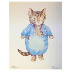 Vintage 1958 Frederick Warne & Company Beatrix Potter Story Book Character Illustration Tom Kitten