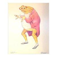 Vintage 1958 Frederick Warne & Company Beatrix Potter Story Book Character Illustration Jeremy Fisher