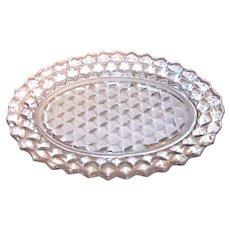 Vintage Fostoria American Clear Oval Platter
