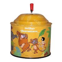 Vintage German Lorenz Bolz Walt Disney Jungle Book Tin Music Box