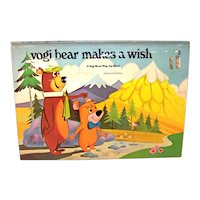 Vintage 1974 Hannah Barbera Pop-Up Book Yogi Bear Makes A Wish Hardback Book