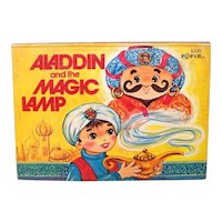 Vintage 1974 Modern Promotions Hardback Pop-Up Book Aladdin And The Magic Lamp