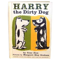 Vintage 1956 First Edition Weekly Reader Hardback Book Harry The Dirty Dog