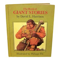 Vintage Illustrated 1972 The Book Of Giant Stories Hardback Children's Book