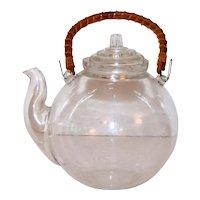 Vintage Clear Glass Teapot