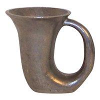 Vintage Lyman Pewter Handled Horn Stein