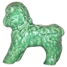 Vintage Brush McCoy Green Ceramic Lamb Planter