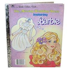 Vintage Children's 1986 Barbie Hardback Golden Book