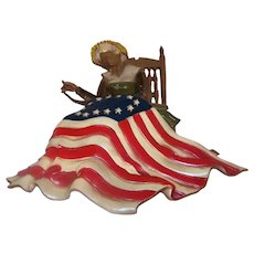 Vintage 1970 Sexton Betsy Ross Art Metal Wall Art