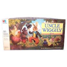 Vintage Milton Bradley 1980 Uncle Wiggly Board Game