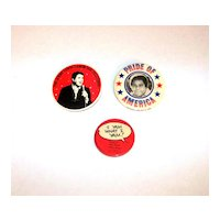 Vintage 1970's Entertainment Personality Promotional Buttons