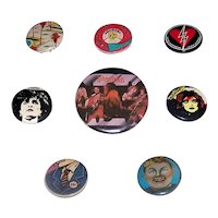 Vintage 1970's & 1980's Rock Band Promotional Pinback Buttons