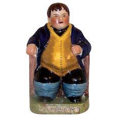 Antique 1880 Staffordshire Daniel Lambert Ceramic Figurine