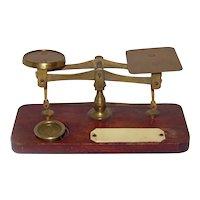 Vintage All-Brass Postal Letter Scale