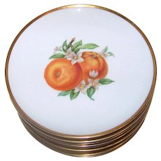 Vintage 1962 Hutschenreuther Fine China Coupe Luncheon Plates