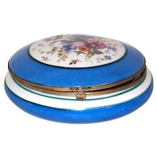 Vintage French Limoge Porcelain Ladies Trinket Box