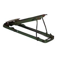 Vintage Green Victor Pressed Metal Gopher Animal Trap